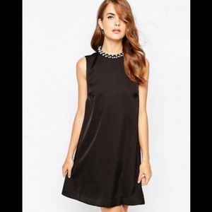 French Connection ~ Encrusted Rouleaux Shift Dress